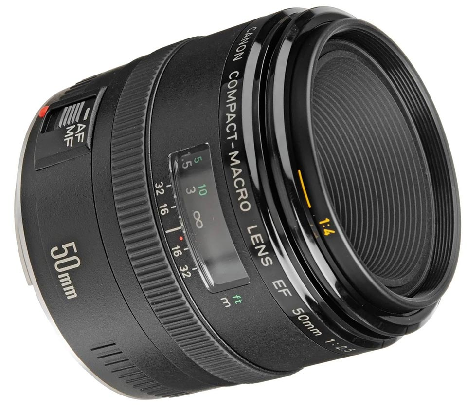 Canon 50mm Macro Lens with EF Mount