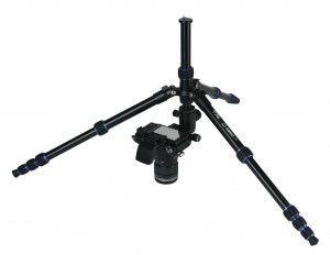 The center column on this tripod is underslung, allowing the camera to get very close to ground level.