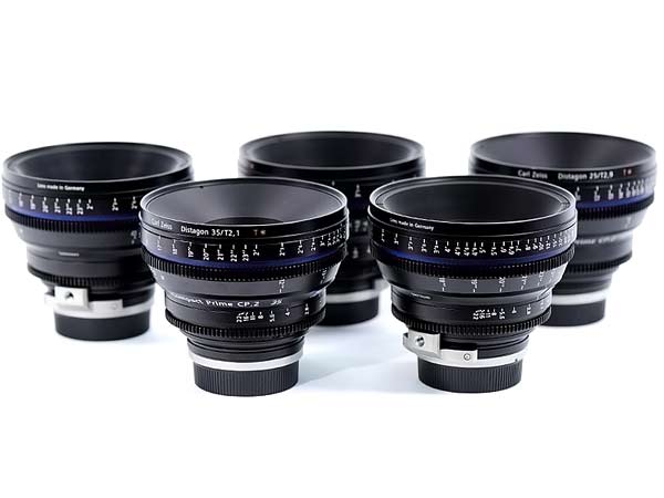 Zeiss CP2 lens set rental EF Mount