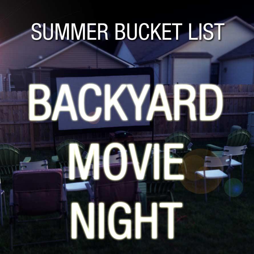 Backyard Movie Night Package - Backyard Movie Night Rental MKE Production Rental