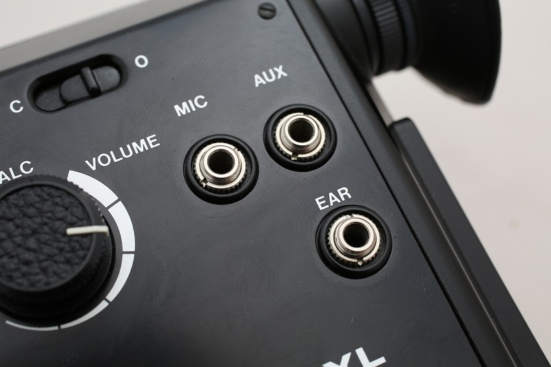 Mic and auxillary inputs, plus a headphone output. Most DSLRs didn't get features like that until 2012.